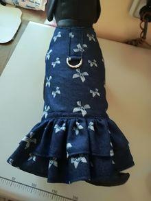 Дънкови роклички с панделки