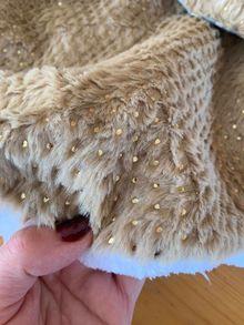 Палта от еко-косъм с камъчета